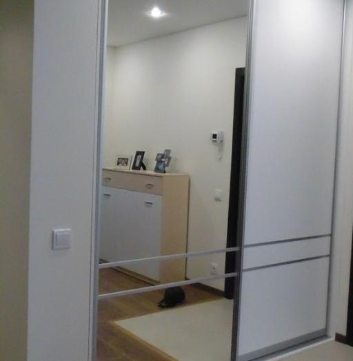 Белые шкафы-купе-Шкаф-купе с зеркалом «Модель 298»-фото2